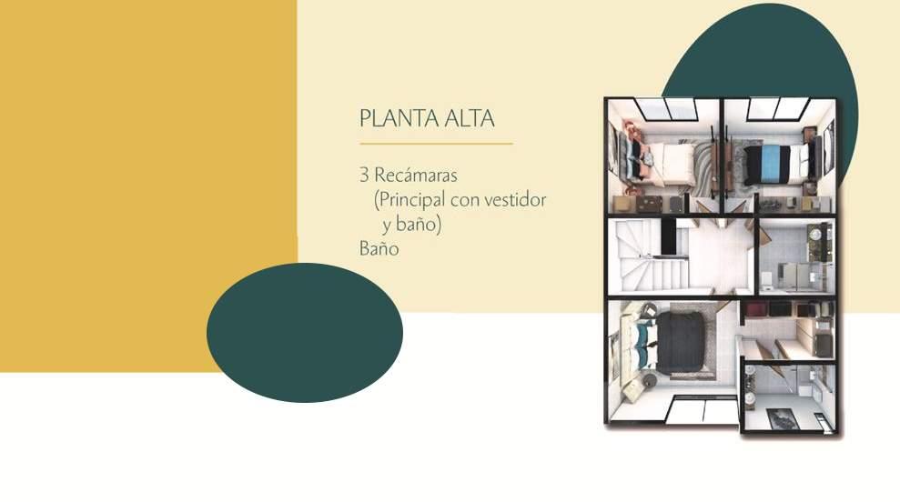 Casa en venta 3 recamaras Modelo Tenerife Altaria Residencial Lomas de Angelopolis Puebla 4
