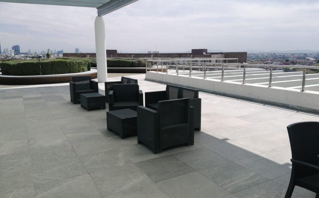 Renta oficina amueblada con terraza Corporativo Angelopolis Lomas de Angelopolis 6