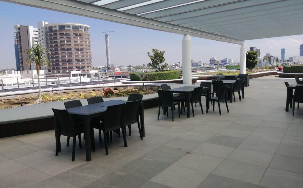 Renta oficina amueblada con terraza Corporativo Angelopolis Lomas de Angelopolis 8